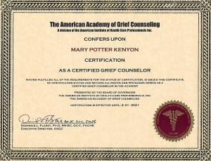 grief counseling certificate