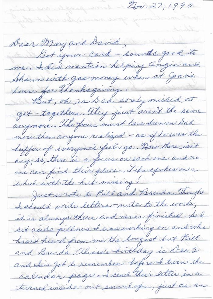 Nov. 27 1990 letter